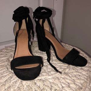 009b401398 ASOS Shoes | Howling Tie Leg Block Heel Sandals Wide Fit | Poshmark